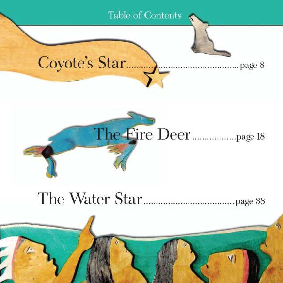 table of contents from Stars in the Water