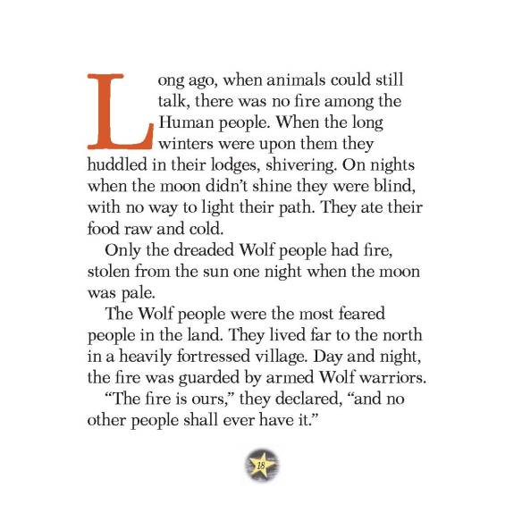 "Opening page of ""The Fire Deer"""
