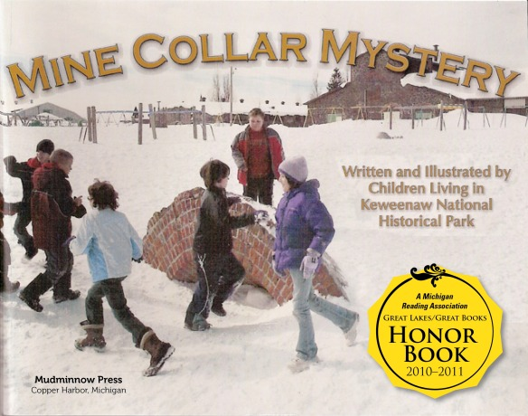 image of the front cover of the children's book Mine Collar Mystery